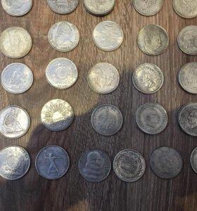 Копии монет под серебро со всего мира