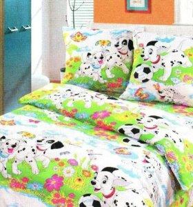 Не мнущееся постельное белье детское бязь