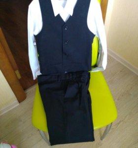 Костюм с рубашкой р128-134