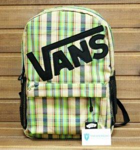 Рюкзак Vans, полоски, лимонный с зеленым