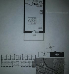 Квартира-студия в ЖК Краски лета