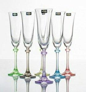 Бокалы для шампанского. Богемское стекло