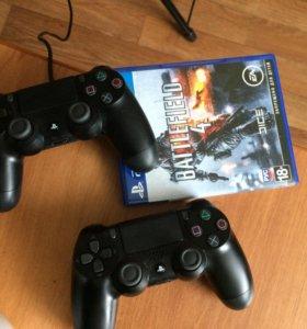 PlayStation 4 slim,500GB+2 джостика и игры.(обмен)