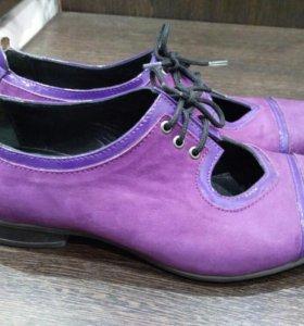 Ботинки замшевые фиолетовые