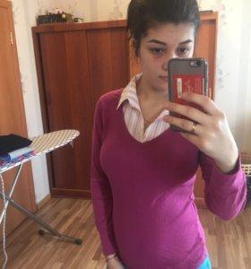 Рубашка + водолазка 2в1