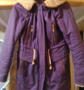 Парка/куртка фиолетовая.