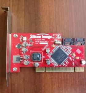 SATA контроллер PCI 2-x портовый