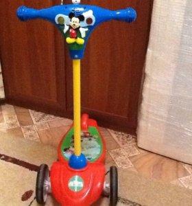 самокат kiddieland 3-колесный с музыкой