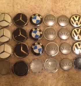 Колпачки, заглушки в литые диски Audi,VW,Skoda,BMW