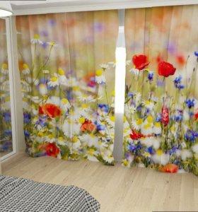Фото шторы - Цветущее Поле
