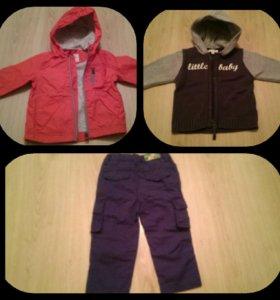 Куртка, Кофта, брюки 86 см, 74 см, 80 см