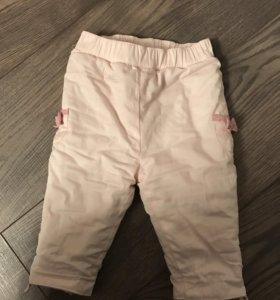 Тёплые штанишки 62-68