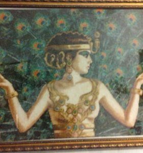 """Клеопатра"" - картина, вышитая крестом"
