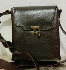 Новая кожаная мужская сумка