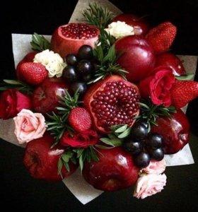 Фруктовые цветочные букеты