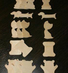 Деревянные бобинки для мулине