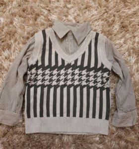 Рубашка +свитер