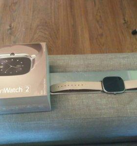 Смарт-часы Asus Zenwatch 2 на кожаном  ремне
