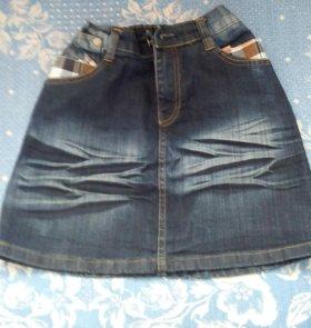 Юбка джинсовая дет.