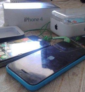 Айфон5с на 16 гег и Айфон4 на 8г меняю или продаю