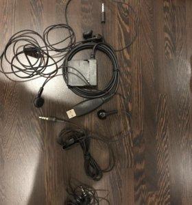 Наушники и USB кабель для Nokia 8800