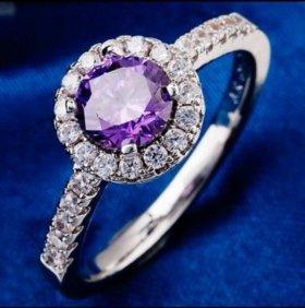 Кольцо женское серебро циркон фианит