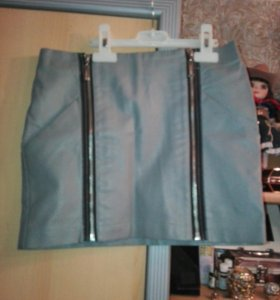 Кожаная юбка Кира Пластинина