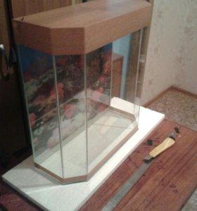 Новый аквариум 40 литров