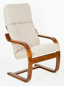 Кресло для отдыха Сайма вишня,Basic Vanila