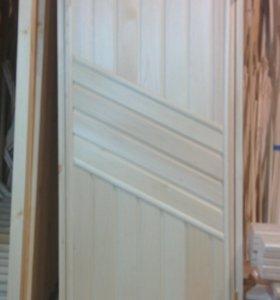 Дверь для бани глухая (вагонка липа)