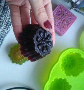 Шоколадное мыло ручной работы )
