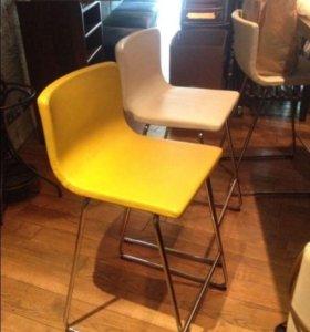 """Кожаные барные стулья (икеа) """"Бернгард"""""""
