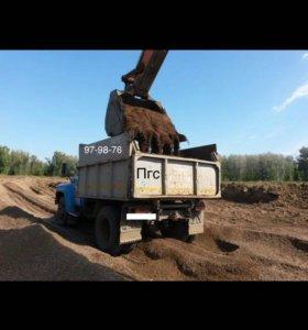 Пгс,песок,чернозем,глина,бут.