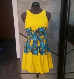 Жёлтое платье новое