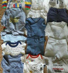 Пакет брендовых вещей на малыша 3-6 мес