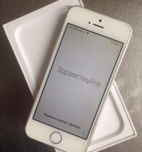 iPhone 5s, silver, 64GB RU/A, Ростест на iCloud