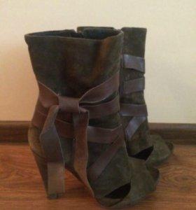 Туфли ботильоны сапоги замша Италия