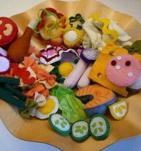 Кукольная Еда из фетра