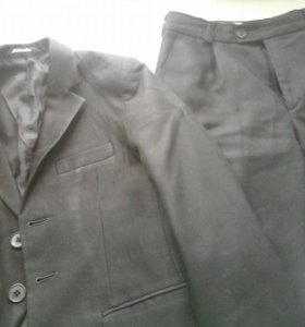 Шк.костюм тройка серый