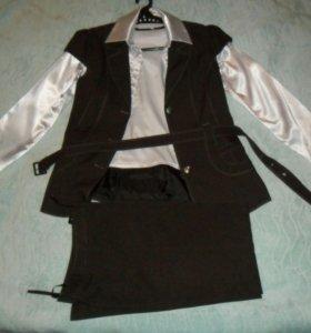 Пиджак брюки блузка