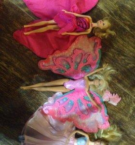 4 куклы барби