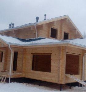 Строительство домов, дач, бань.