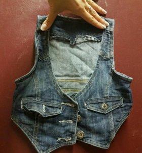 жилетка джинсовая 5л