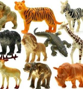 Набор игрушек (дикие звери)