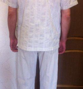 Комплект летний рубашка и брюки
