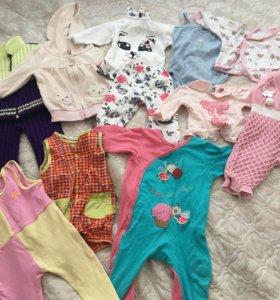 Пакет одежды на девочку с 6 мес до года