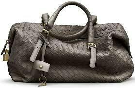 Кожаная сумка-плетенка