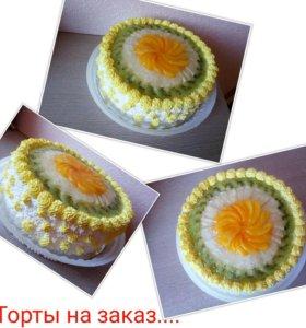 Домашние торты на заказ...