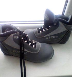 Лыжи, обувь( для лыж), палки.