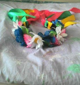 Обадок с лентами и цветами